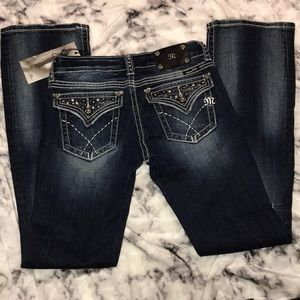 Dark Blue Bootcut Miss Me Jeans, Size 28, NWT